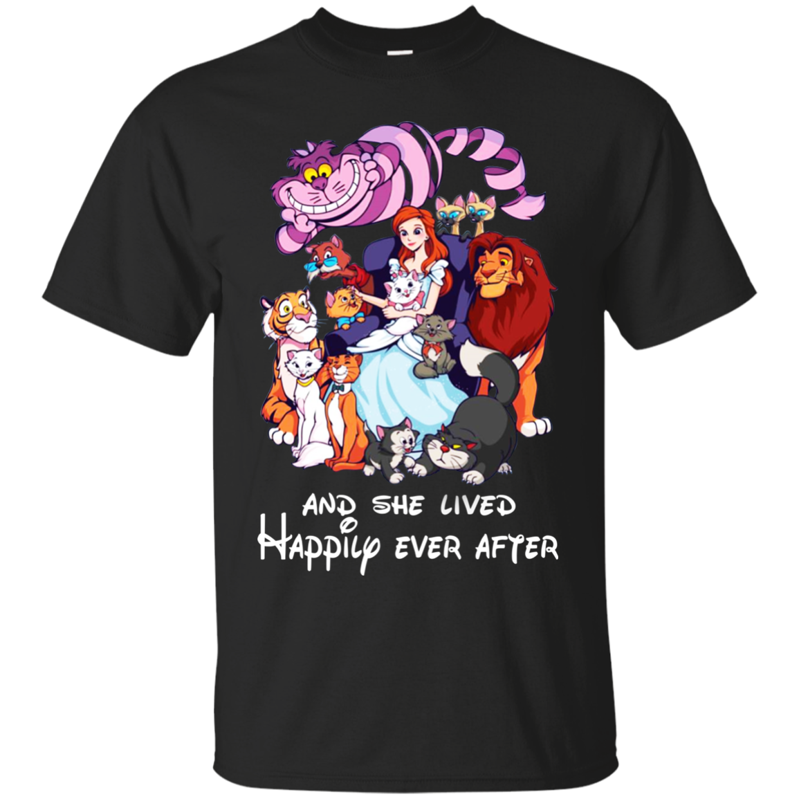 And She Lived Happily Ever After Shirt, Hoodie, Tank