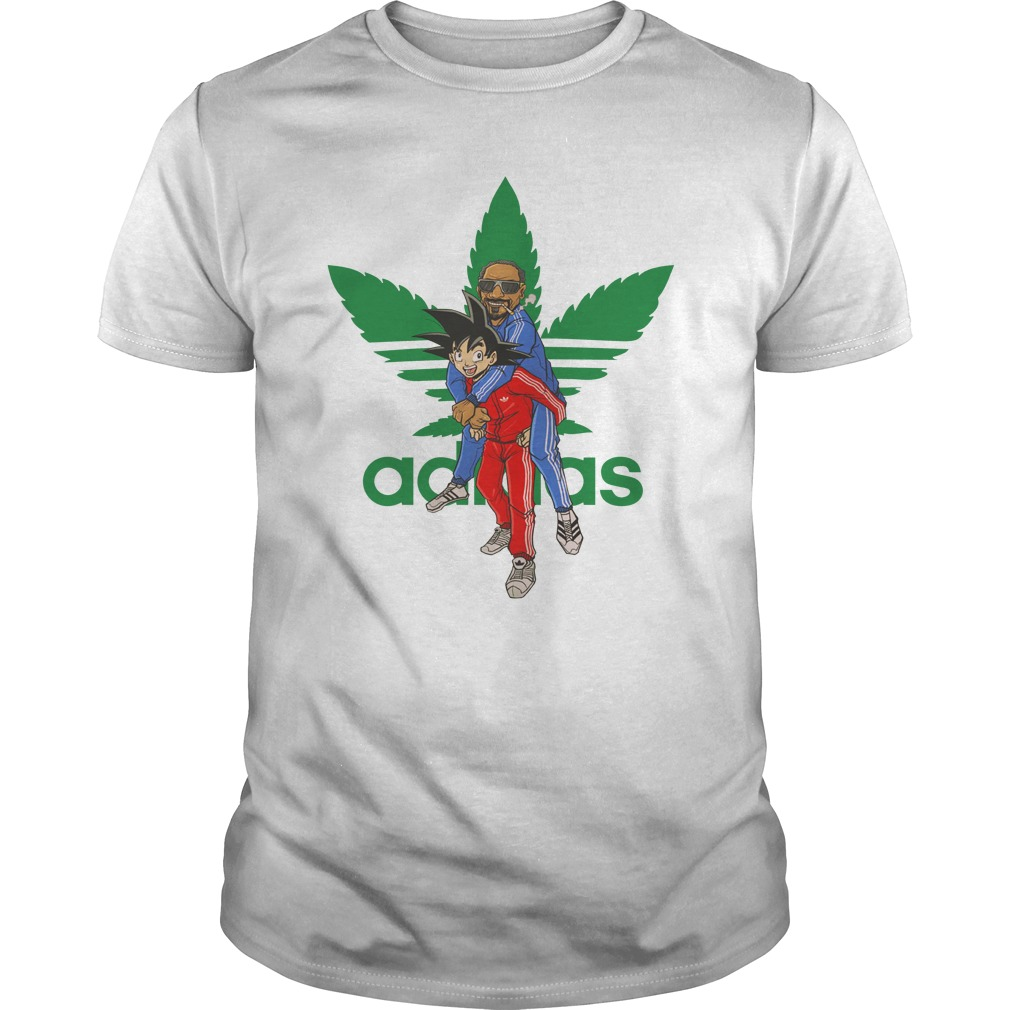 84214e0b2302d Dragonball - Goku And Snoop Dogg Adidas Cannabis Logo Shirt