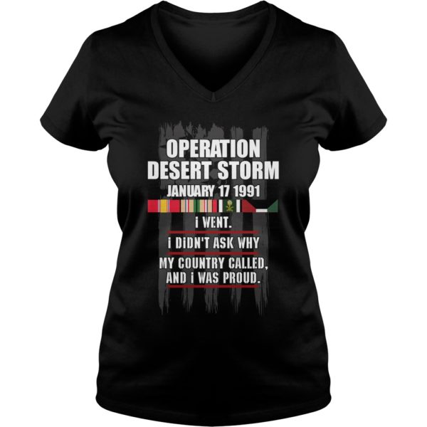 Operation Desert Storm January 17 1991 Shirt
