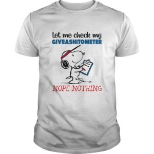 Snoopy - Let me Check My Giveashitometer Nope Nothing Shirt