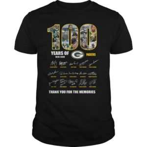 100 Years Of Green Packers 1919-2019 Shirt