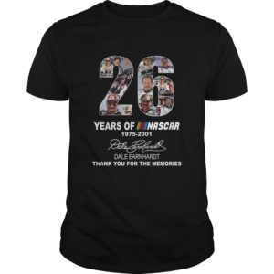 26 Years OF Nascar 1975-2001 Shirt