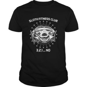 Sloth Fitness Club 3 2 1 No Shirt