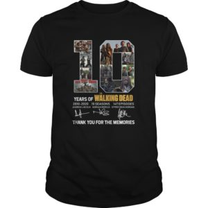 10 Years Of The Walking Dead 2010-2020 Shirt