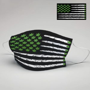 Cannabis Smoke Flag Cloth Face Mask