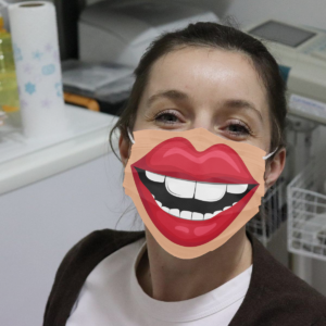 Smile Mouth Cloth Face Mask