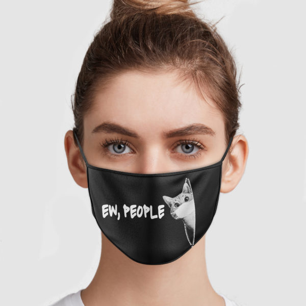 Cat Zipper – Ew People Face Mask