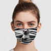 Siamese Cat Stripes Face Mask
