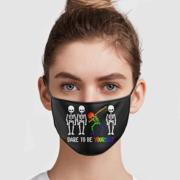 Skeleton Dabbing – Dare To Be Yourself Face Mask