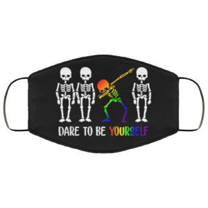 Skeleton Dabbing - Dare To Be Yourself Face Mask