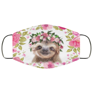 Sloth Flower Face Mask